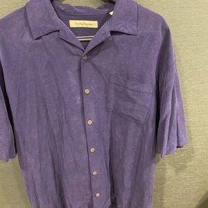 Tommy Bahama Silk Shirt - Size L. 100% Silk